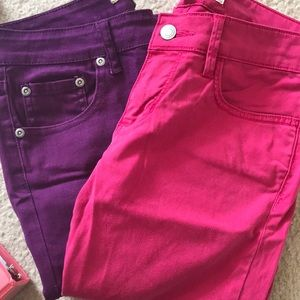 PURPLE & PINK SKINNY JEAN BUNDLE